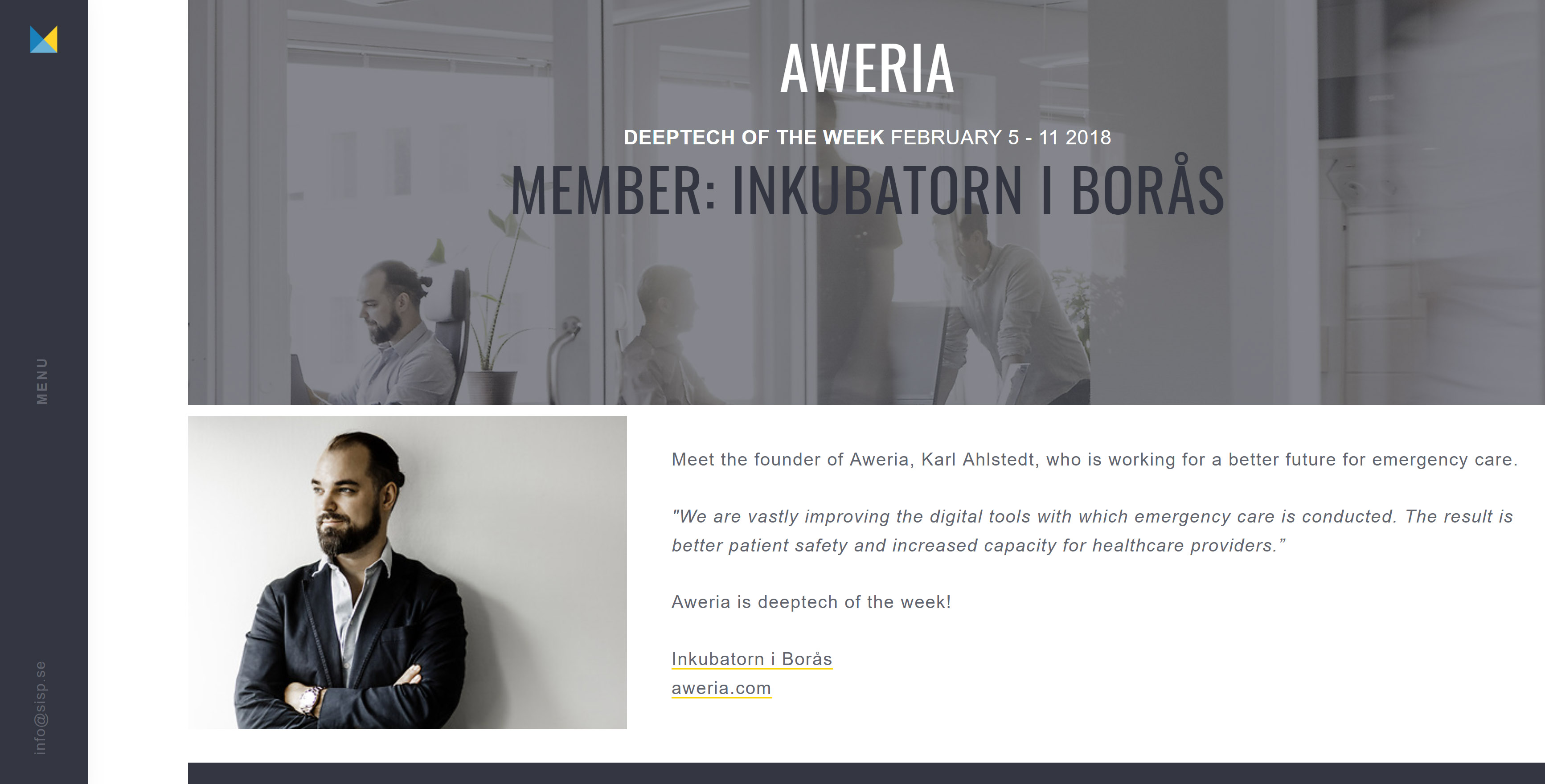 Aweria is Deeptech of the week - Aweria